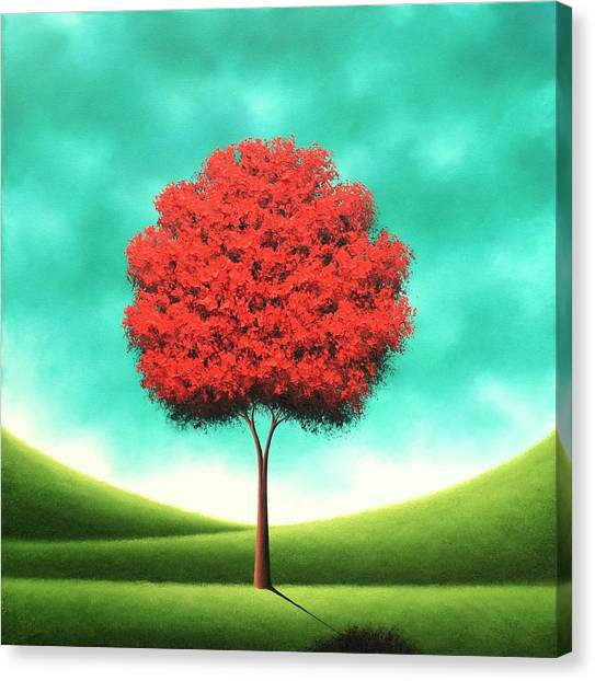 Blooming Tree Canvas Print - Singing The Day by Rachel Bingaman