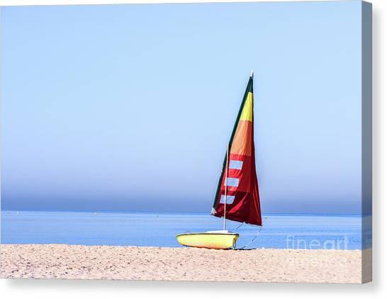 Gcc Canvas Print - Single Boat by Bin Wang