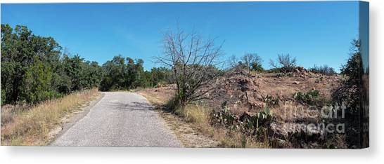Single Lane Road In The Hill Country Canvas Print