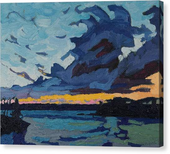 Singleton Sunset Stratocumulus Canvas Print