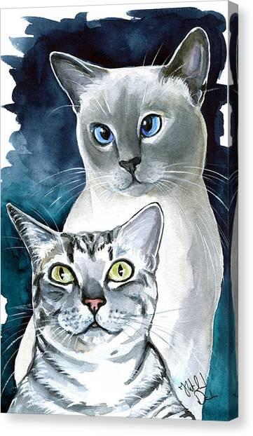 Egyptian Maus Canvas Print - Sini And Nimbus - Cat Portraits by Dora Hathazi Mendes