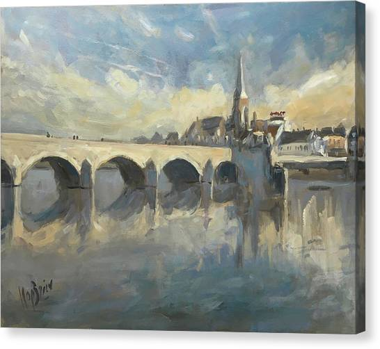 Canvas Print - Sint Servaas Bridge Maastricht by Nop Briex