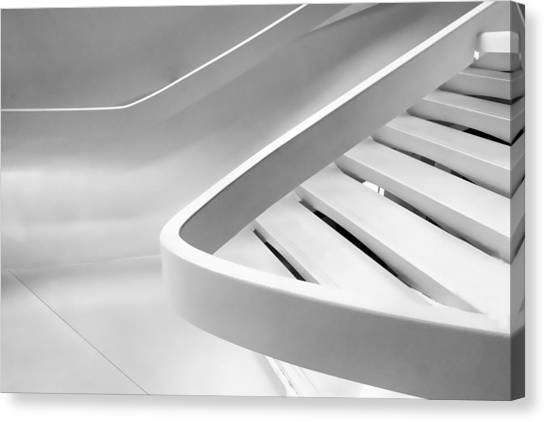 Stair Canvas Print - Sinuous In White by Jessica Jenney