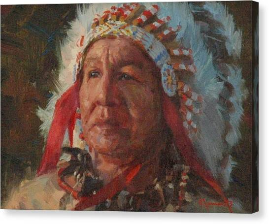 Sioux Chief Canvas Print by Jim Clements