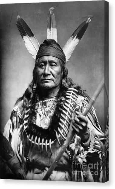 Bear Claws Canvas Print - Sioux Man, C1890 by Granger