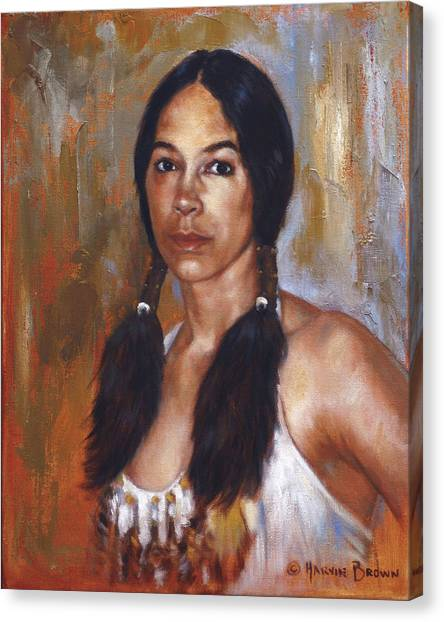 Sioux Woman Canvas Print