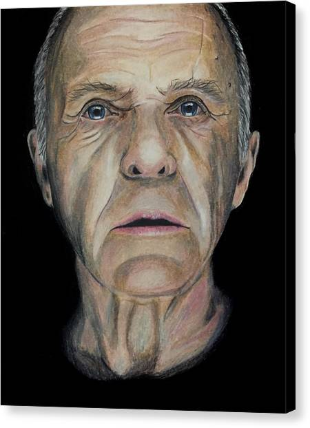 Anthony Hopkins Canvas Print - Sir Anthony Hopkins by Jason Swanson
