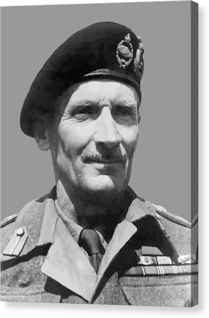 Law Canvas Print - Sir Bernard Law Montgomery  by War Is Hell Store