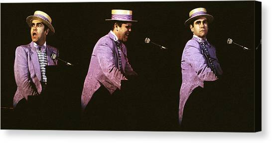 Sir Elton John 3 Canvas Print
