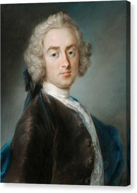 Rococo Art Canvas Print - Sir James Gray, Second Baronet by Rosalba Carriera