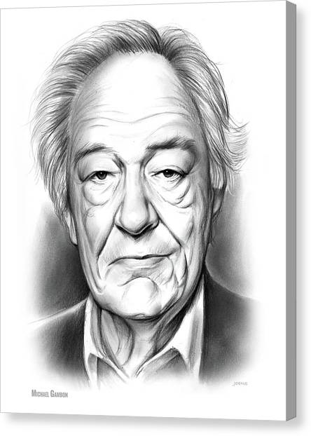 Ireland Canvas Print - Sir Michael Gambon by Greg Joens