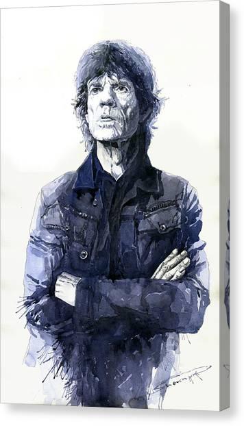 Mick Jagger Canvas Print - Sir Mick Jagger by Yuriy Shevchuk