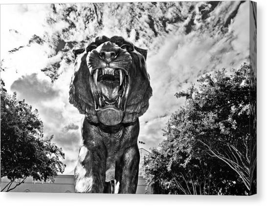 Louisiana State University Lsu Canvas Print - Sir Mike by Scott Pellegrin