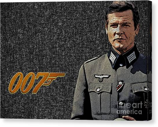 Sir Roger Moore Canvas Print
