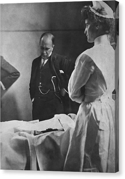 Johns Hopkins University Canvas Print - Sir William Osler 1849 � 1919, Reading by Everett