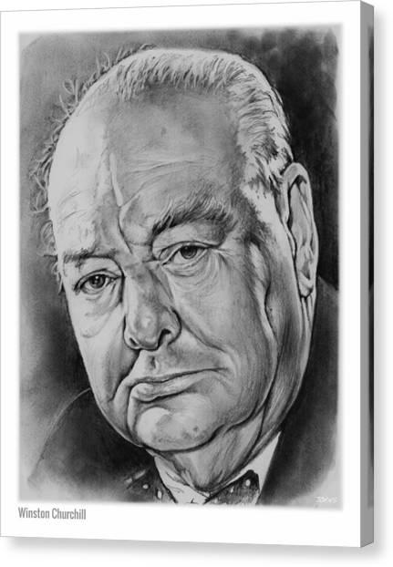 Prime Canvas Print - Sir Winston Churchill by Greg Joens
