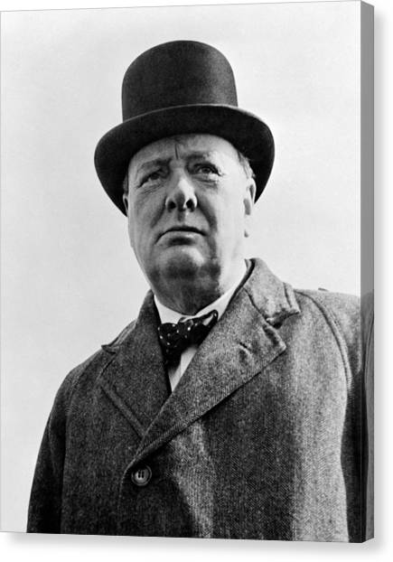 Historic Canvas Print - Sir Winston Churchill by War Is Hell Store