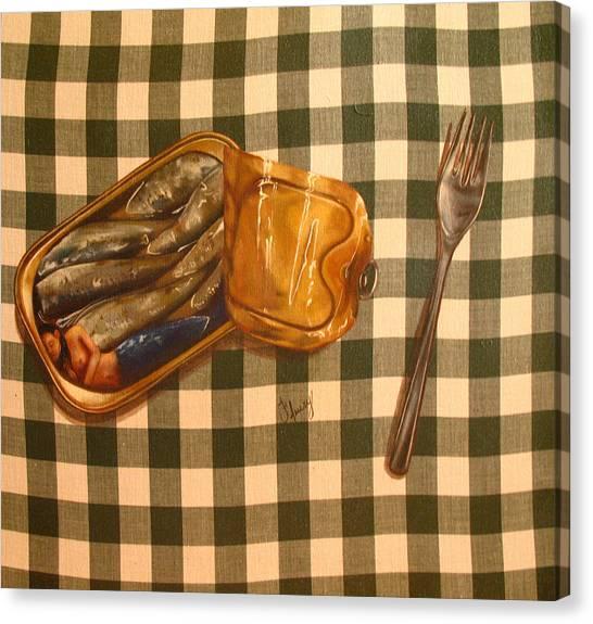 Sirene En Boite Canvas Print by Helene Fleury