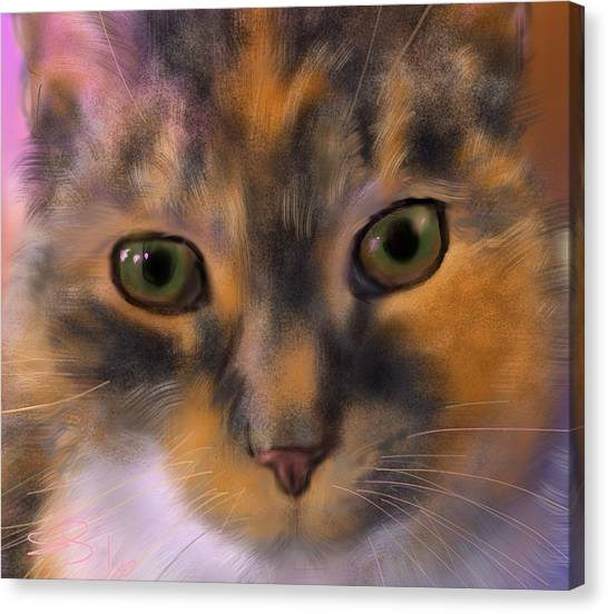 Sissy Up Close Canvas Print