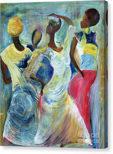 Jamaican Canvas Print - Sister Act by Ikahl Beckford