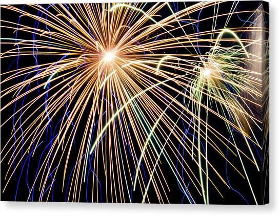 Sister Bay Fireworks Canvas Print