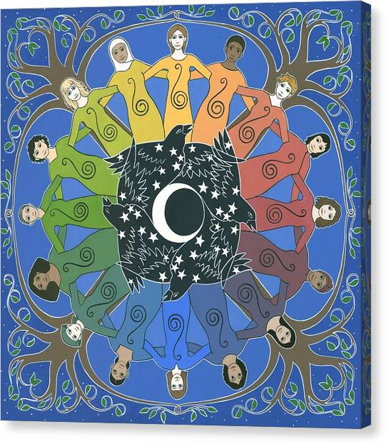 Korean Canvas Print - Sister Circle by Karen MacKenzie