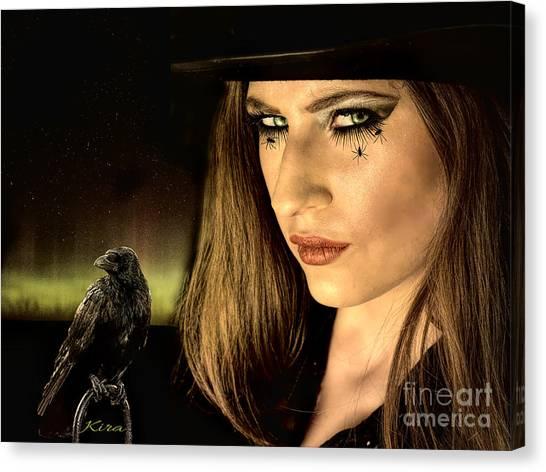 Sister Raven Series - Spider Eyes  Canvas Print