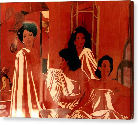 Sisters We Are Family Canvas Print