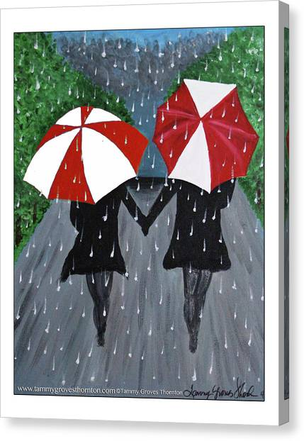 Delta Sigma Theta Canvas Print - Sisterly Love by Tammy Groves Thornton