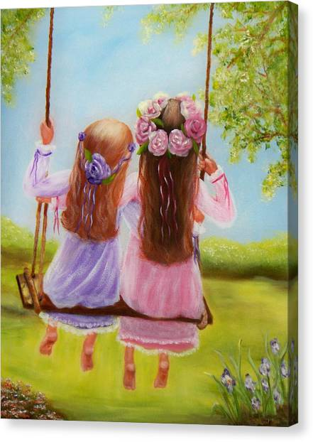 Sisters And Friends Forever Canvas Print