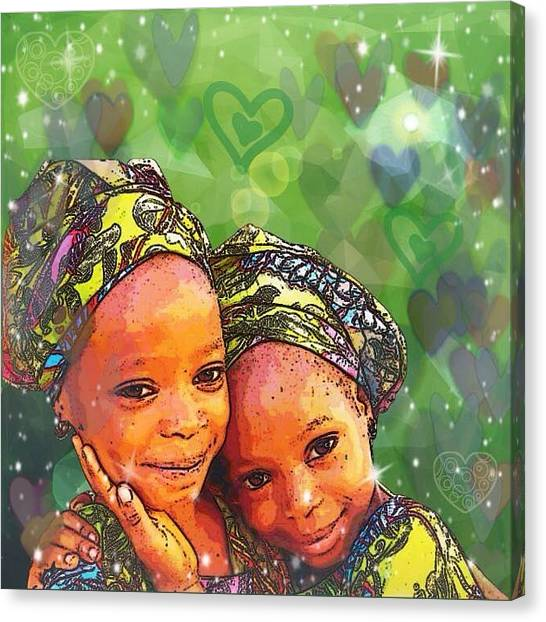 Sisters Love Canvas Print