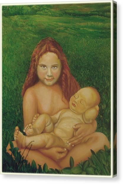 Sisters Of Mine Canvas Print by Ibrahim Rahma