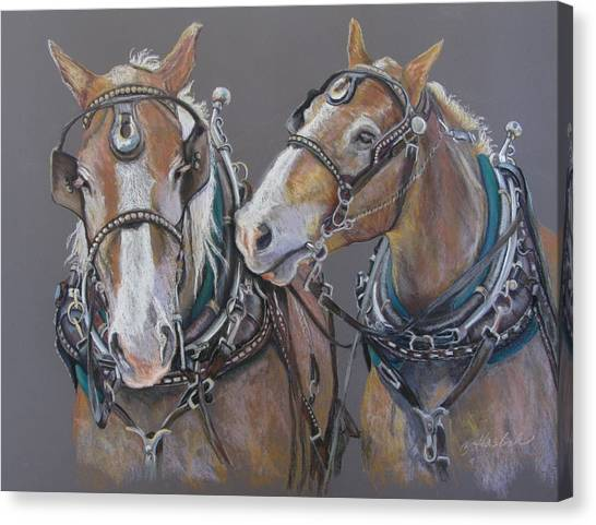 Sisters Whisper Canvas Print by Carole Haslock