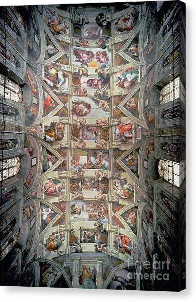 Noah Canvas Print - Sistine Chapel Ceiling by Michelangelo