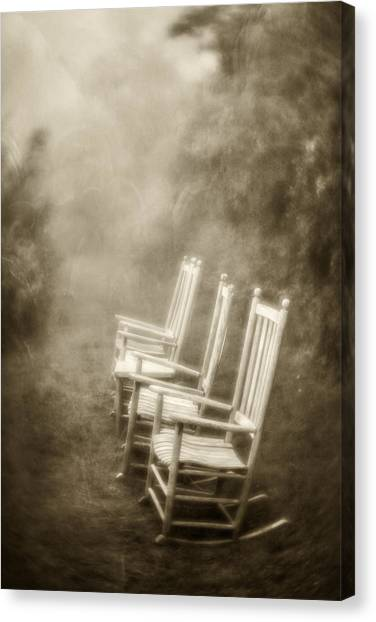 Sit A Spell-sepia Canvas Print