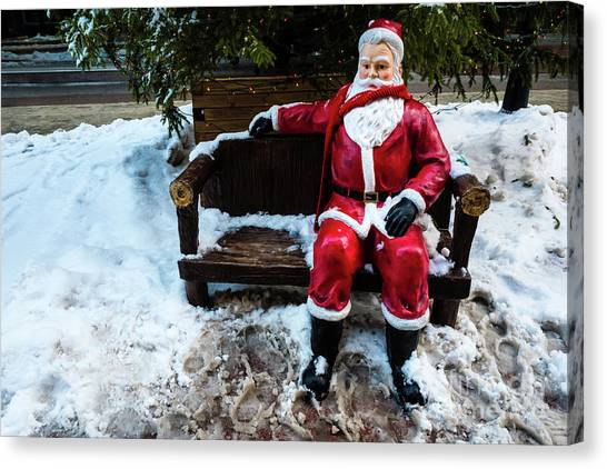 Sit With Santa Canvas Print