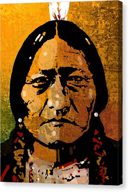 Indian Canvas Print - Sitting Bull by Paul Sachtleben