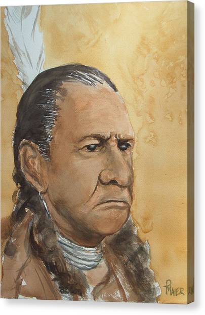 Sitting Bull Canvas Print by Pete Maier