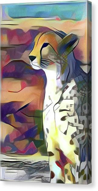 Sitting Cheetah  Canvas Print