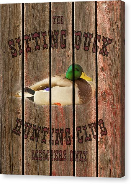 Sitting Duck Hunting Club Canvas Print