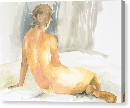 Sitting Figure Canvas Print by Eugenia Picado
