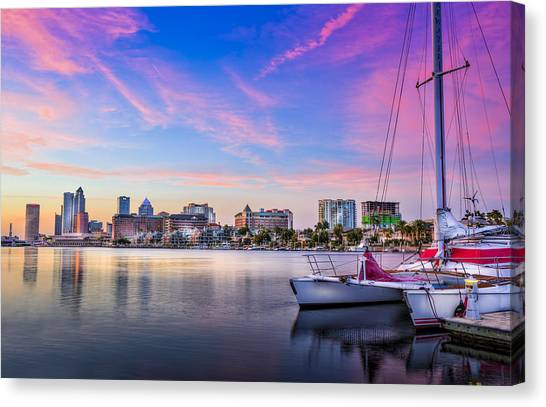 Catamarans Canvas Print - Sitting On The Dock Of The Bay by Marvin Spates