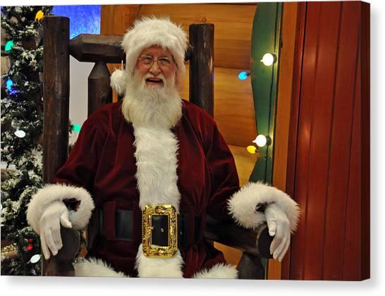 Sitting Santa Claus Canvas Print
