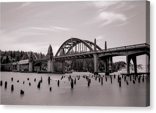 Siuslaw River Bridge Canvas Print by HW Kateley