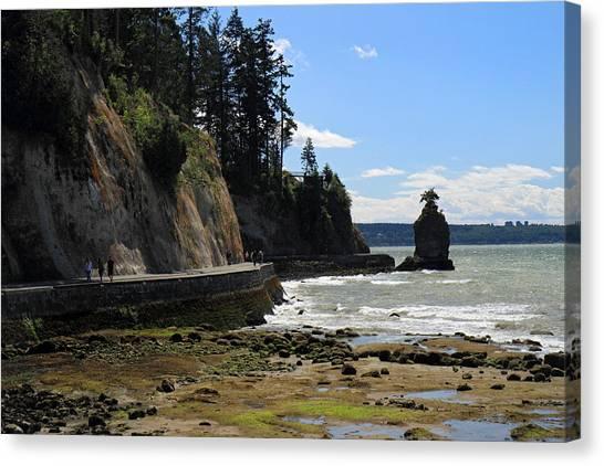 Siwash Rock Stanley Park Vancouver Canvas Print by Pierre Leclerc Photography