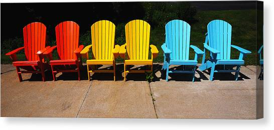 Six Chairs Canvas Print