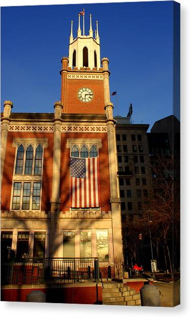 Six-fifteen At City Hall Canvas Print by Lois Lepisto