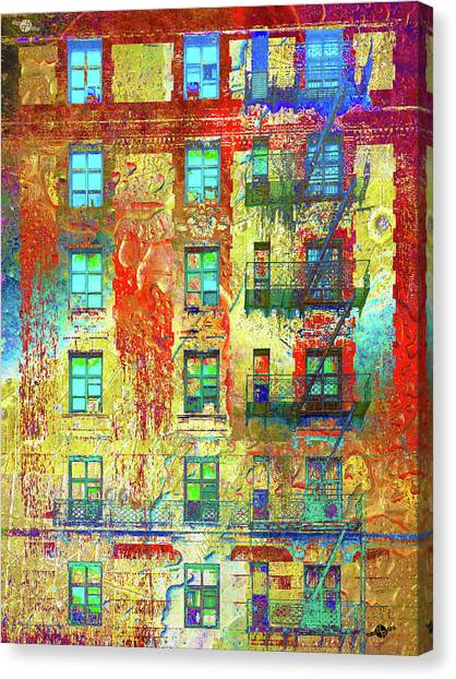 Pre-modern Art Canvas Print - Six Flights Up by Tony Rubino