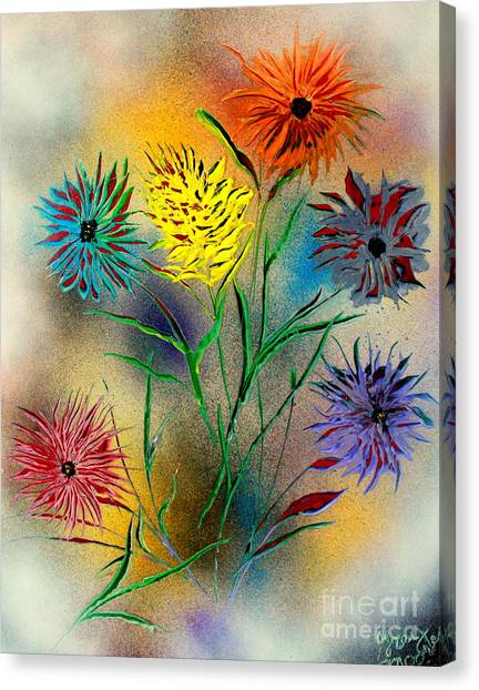 Six Flowers - E Canvas Print