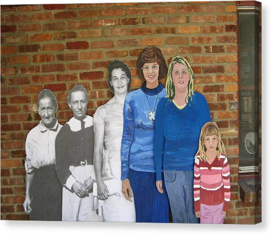 Six Generations Of Women Canvas Print